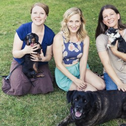 Ladybird Animal Sanctuary founders Janine Stoll, Melissa McClelland, and Lisa Winn – Photo by Raina Kirn