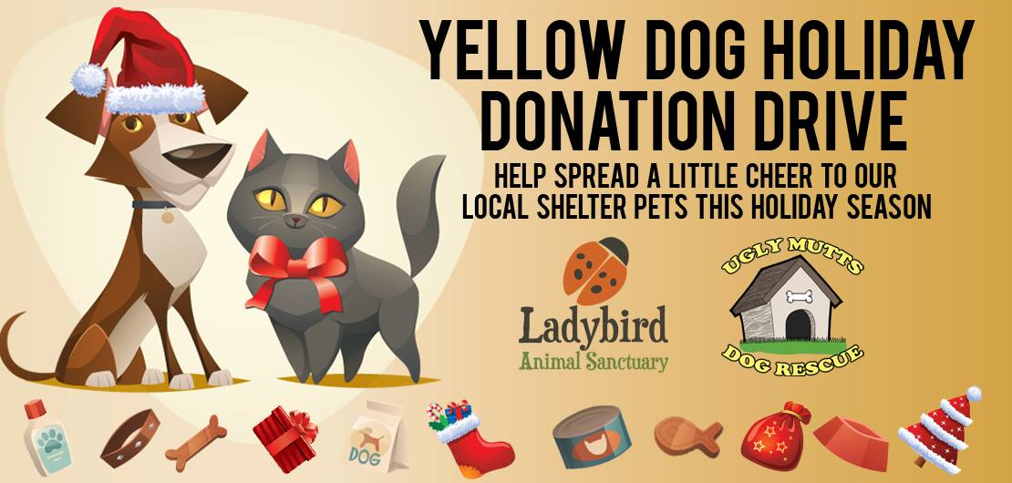 Yellow Dog Grooming Donation Drive